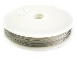 Steel Cord, Jewelry DIY Making  0.45 mm silver color -50 meters