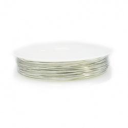 Медна тел 0.4 мм сребро ~6 метра