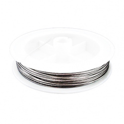 Корда стоманена 1.0 мм цвят сребро ~10 метра