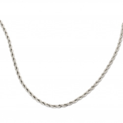 Синджир СТОМАНА 4 мм обла плетка цвят сребро -1 метър