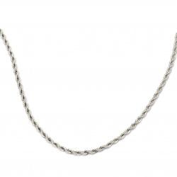 Синджир СТОМАНА 5 мм обла плетка цвят сребро -1 метър