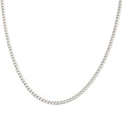 Αλυσίδα, Ατσάλι 4,5x1,8 mm πλακέ πλεκτή, ασημί -1 μέτρο