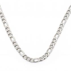 Oțel lanț 10x4 mm tricot plat culoare argintiu -1 metru
