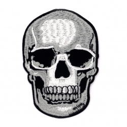 Fabric Sticker 70x100 mm Embroidered skull