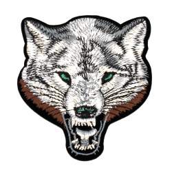 Fabric Sticker 85x100 mm Embroidered wolf