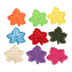 Fabric Stickers  80x90 mm Assorted leaf