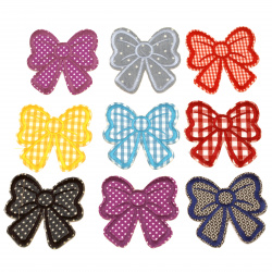 Fabric Stickers e 75x80 mm Assorted ribbon
