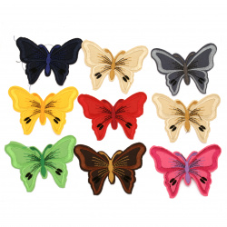 Fabric Stickers  70x90 mm Assorted butterfly