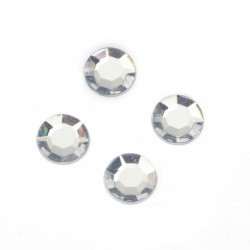 Acrylic stone for gluing 10 mm transparent faceted -50 pieces