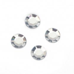 Piatra acrilica pentru lipire transparente de 10 mm -50 bucati