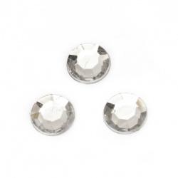 Камък акрил за лепене 12 мм прозрачен фасетиран -20 броя