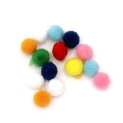Помпони 6 мм цветни първо качество -50 броя
