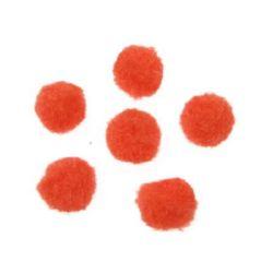 Πομ πομ 12 mm πορτοκαλί -20 τεμάχια