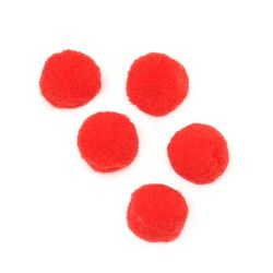 Помпони 20 мм червени първо качество -50 броя
