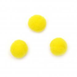 Pompoms 20 mm galben prima calitate -50 bucăți