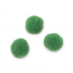 Pompoms 20 mm verde prima calitate -50 bucăți