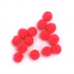 Pompoms 6 mm electrician roz -50 bucăți