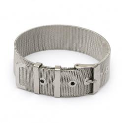 Baza din otel pentru bratara / ceas 210x18 mm culoare argintiu
