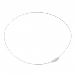 Necklace steel cord 440x1 mm white