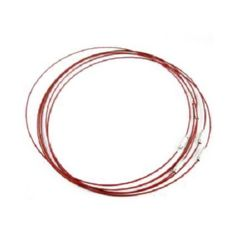 Necklace steel cord 440x1 mm red