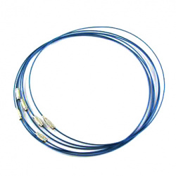 Гердан от стоманена корда цвят син 440x1 мм