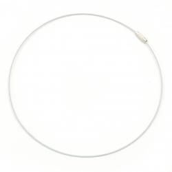 Гердан от стоманена корда цвят бял440x1 мм