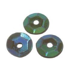Paiete rotunde 7 mm curcubeu verde măslin -20 grame