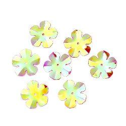 Λουλούδι πούλιες 20 mm κόκκινο ιριδίζον - 20 γραμμάρια