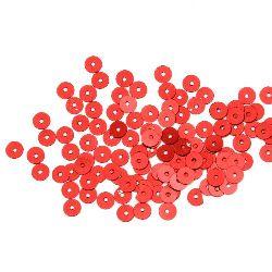 Στρόγγυλες πούλιες 5 mm κόκκινο - 20 γραμμάρια