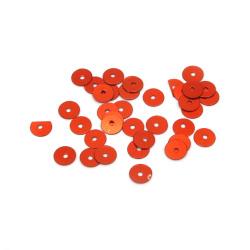 Пайети обли плоски 6 мм кафяви - 20 грама