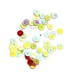 Paiete rotunde plate 6 mm curcubeu roșu - 20 grame