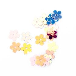 Paiete floare 7 mm curcubeu asortate -20 grame