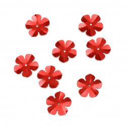 Sequins flower 20 mm red - 20 grams