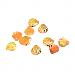 Paiete scoici 14x13 mm curcubeu portocaliu - 20 grame