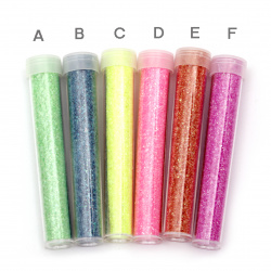 Big Glitter Powder in a jar of assorted colors ± 2 grams