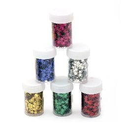 Elements for decoration stars 5 mm in a jar ~ 7 grams