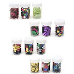 Elements for decoration in a jar of different types 4 ~ 8 grams