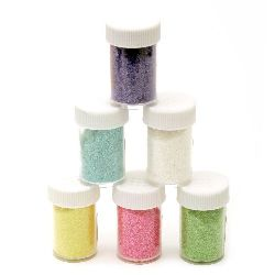 Glitter Powder in a jar assorte colors rainbow -8 ± 10 grams