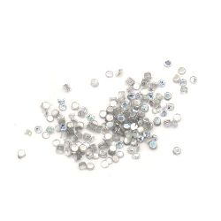 Glitter Powder for Decoration  silver rainbow 1.2 mm -10 grams