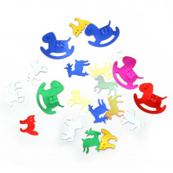 Elements for decoration animals mix 13x10 ~ 25x20 mm -11 grams