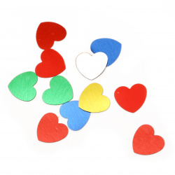 Elements for decorating hearts 14x14 mm -9 grams