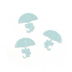 Elements for decoration umbrella 17x18 mm color blue -5 grams