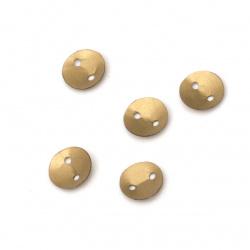 Пайети кръг 6 мм два отвора антик бронз матирани -20 грама