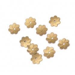 Пайети цвете 8 мм антик бронз матирани -20 грама