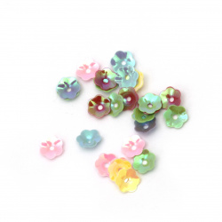 Sequins bell 6.5x1.5 mm arc Different types -20 grams