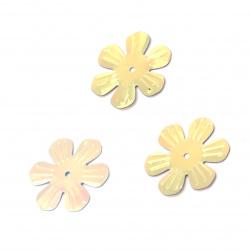 Пайети цвете 24 мм релеф дъга асорте -20 грама