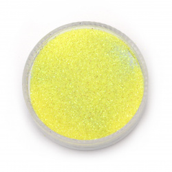 Brocade/Glitter Powder 0.3 mm 250 microns yellow lemon hologram /rainbow - 20 grams