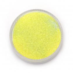 Χρυσόσκονη 0,3 mm κίτρινο λεμονί, ιριδίζον -20 γραμμάρια