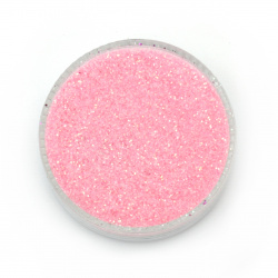 Brocade/glitter powder 0.3 mm 250 micron pink electric hologram/ rainbow - 20 grams