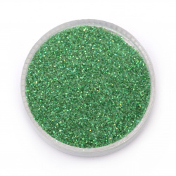 Brocade/Glitter Powder 0.3 mm 250 micron green herbaceous hologram/rainbow - 20 grams